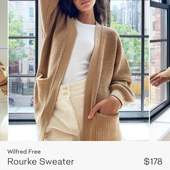 NWOT Aritzia Wilfred free Rourke sweater jacket